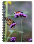 Two Monarchs On Verbena Spiral Notebook