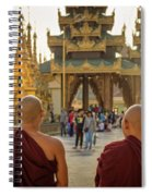 Two Monks Spiral Notebook