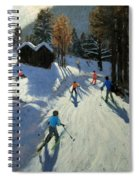 Two Mountain Huts Spiral Notebook