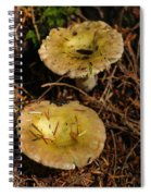 Two Mushrooms Spiral Notebook