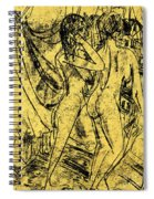 Two Nudes At The Window Spiral Notebook