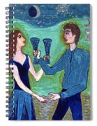 Two Of Cups Illustrated Spiral Notebook