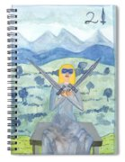 Two Of Swords Illustrated Spiral Notebook