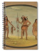 Two Ojibbeway Warriors And A Woman Spiral Notebook