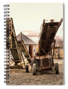 Two Old Conveyor Belts Spiral Notebook
