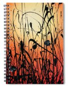 Two Orbs Meet In A Field At Sunset Spiral Notebook