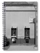 Two Pay Phones Spiral Notebook