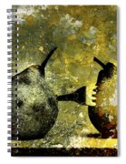 Two Pears Pierced By A Fork. Spiral Notebook