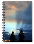 Two-pine Sunset Spiral Notebook
