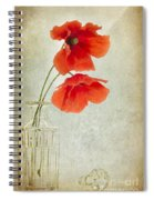Two Poppies In A Glass Vase Spiral Notebook