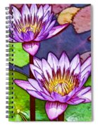 Two Purple Lotus Flower Spiral Notebook