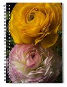 Two Ranunculus Spiral Notebook