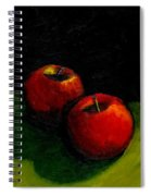 Two Red Apples Still Life Spiral Notebook