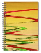 Two Red Roses Abstract Spiral Notebook