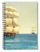 Two Royal Navy Corvettes On Patrol In The Southern Ocean Spiral Notebook