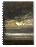 Two Sailing Boats By Moonlight Spiral Notebook