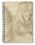 Two Seated Lions Spiral Notebook