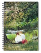 Two Seated Women Spiral Notebook