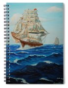 Two Ships Sailing Spiral Notebook