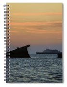 Two Ships Sunset Beach Cape May Nj Spiral Notebook
