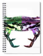Two Sides - Duality Crab Art Spiral Notebook