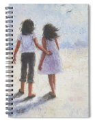 Two Sisters Walking Beach Spiral Notebook
