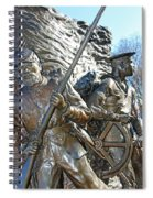 Two Soldiers Of The The African American Civil War Memorial -- The Spirit Of Freedom Spiral Notebook