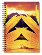 Two Sunflower Sunset Spiral Notebook