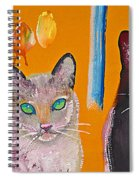 Two Superior Cats With Wild Wallpaper Spiral Notebook
