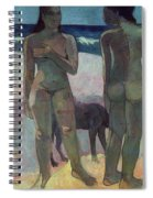 Two Tahitian Women On The Beach Spiral Notebook