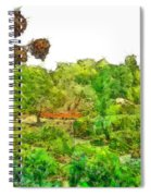 Two Thistles In The Garden Of The Simple Spiral Notebook