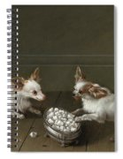 Two Toy Spaniels At A Sugar Bowl Spiral Notebook