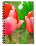 Two Tulips In Bloom  Spiral Notebook