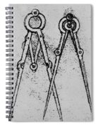 Two Types Of Adjustable Opening Compass Spiral Notebook