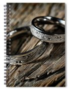 Two Wedding Rings With Celtic Design Spiral Notebook