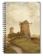 Two Windmills Between Abcoude And Ouderkerk On The Amstel Spiral Notebook