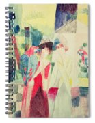 Two Women And A Man With Parrots Spiral Notebook
