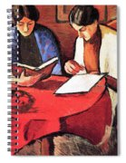 Two Women At The Table By August Macke Spiral Notebook