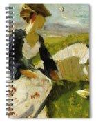 Two Women On The Hillside 1906 Spiral Notebook