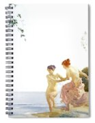 Two Women On The Steps At Noon  Spiral Notebook