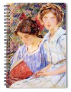 Two Women Reading Spiral Notebook
