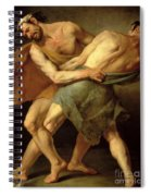 Two Wrestlers Spiral Notebook