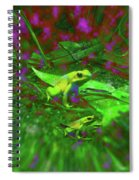 Two Yellow Frogs Spiral Notebook