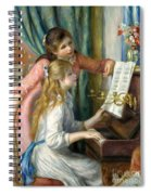 Two Young Girls At The Piano, 1892  Spiral Notebook