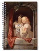 Two Young Ladies At The Window Spiral Notebook
