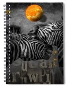 Two Zebras And Macaw Spiral Notebook
