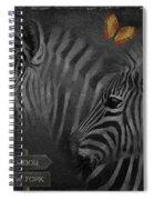 Two Zebras Spiral Notebook