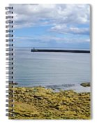 Tynemouth Piers And Lighthouses Panorama Spiral Notebook