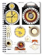 Types Of Clockfaces And Mechanism, 1809 Spiral Notebook