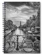 Typical Amsterdam - Monochrome Spiral Notebook